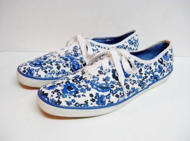keds s canvas tennis shoes size 7 5 blue white