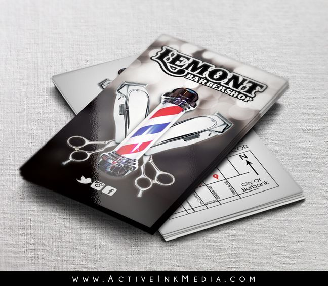 Best Hair Stylist Barber Business Cards Images On Pinterest - Barber business card template