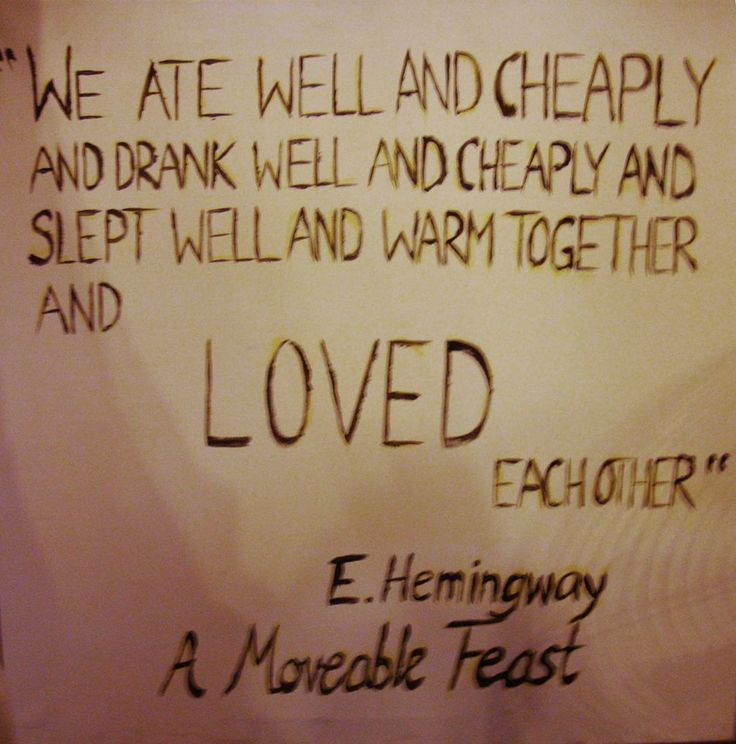 shakespeare and company, hemingway quote