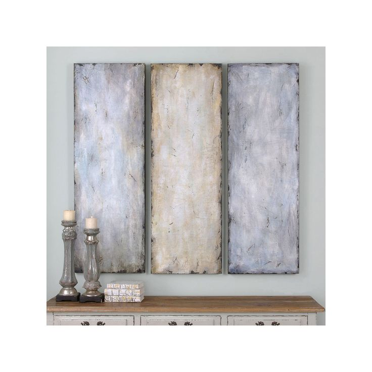 Superbe Textured Trio Wall Art 3 Piece Set, Multicolor