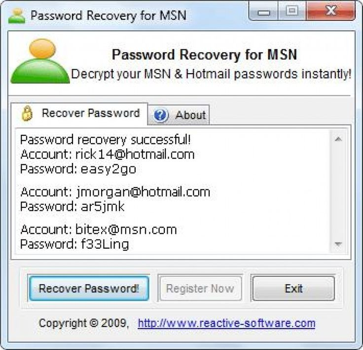 Yahoo msn facebook password hacker