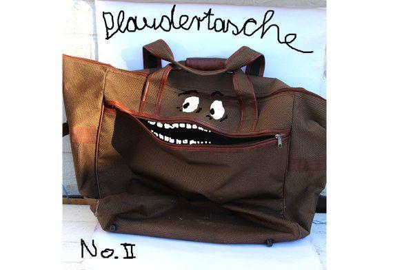 Kennt Ihr auch den Begriff Plaudertasche? Die bildhafte Sprache ist so interessant, ich musste den Begriff bildlich umsetzen. Vielleicht wollt Ihr es