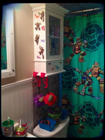 Ninja Turtle bathroom                                                                                                                                                                                 More