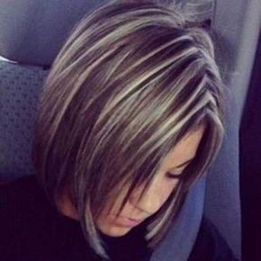 Short-Dark-Brown-Hair-with-Blonde-Highlights.jpg (500×500)