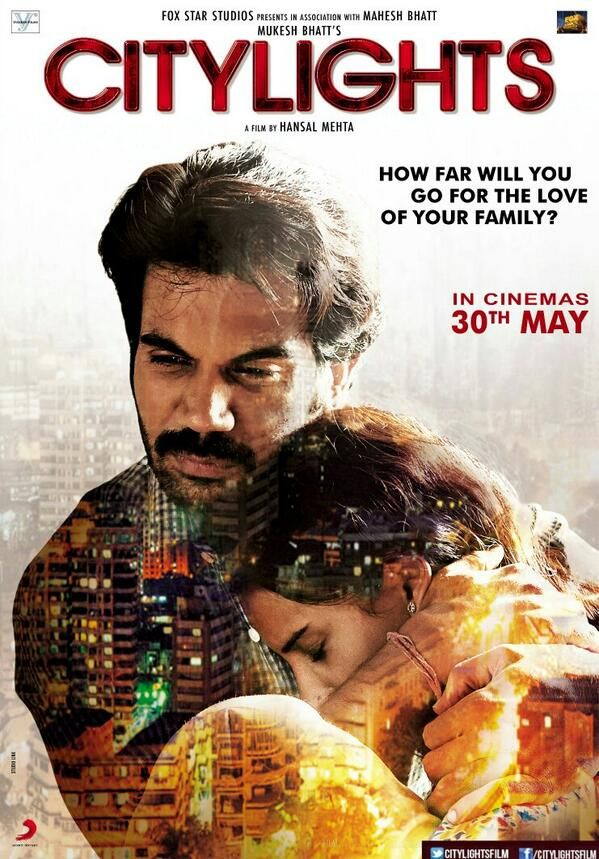 #CityLights is an upcoming Bollywood film directed by Hansal Mehta. The film is an official remake of British film Metro Manila. The film stars Rajkummar Rao, who starred in his previous film, Shahid.