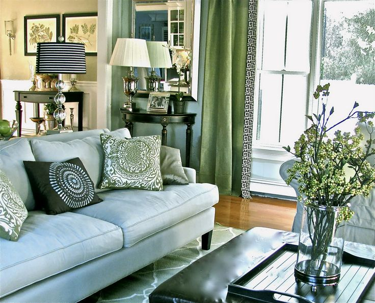 Contemporary Traditional Transitional Family Room / Living Room Design  Photo By South Shore Decorating Album   South Shore Decorating By Stacy  Curran, ...