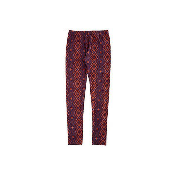 1st  Kiss Juniors Aztec Diamond Print Leggings ($9.99) ❤ liked on Polyvore featuring pants, leggings, aztec pattern leggings, aztec pants, stretch waist pants, legging pants and aztec print leggings
