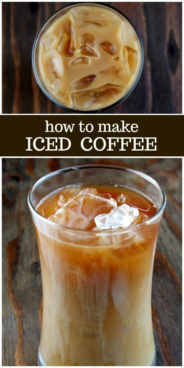 How To Make Iced Coffee Recipe From Recipegirl Com Iced Coffee Recipe Recipegirl Via Recipeg Easy Coffee Recipes Iced Coffee Recipe Easy Ice Coffee Recipe