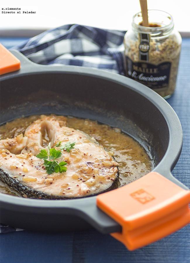 La receta de salmón con mostaza a la antigua y cava que os traigo hoy es perfecta si os gusta este pescado.
