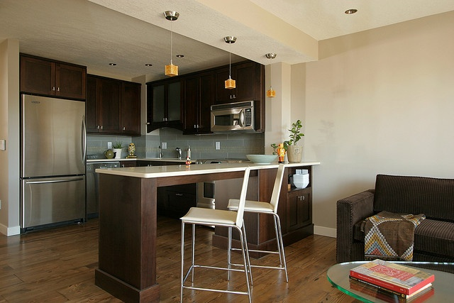 Pin on dining room - Open kitchen designs with living room ...