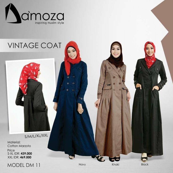 """""""New Model"""" Gamis Damoza 11 Gamis Muslim Dewasa Persembahan Damoza dengan bahan Cotton Marzoto Tebal, halus, lembut dan adem, Tersedia 2 pilihan kombinasi warna:  1. Navy 2. Khaki 3. Black"""