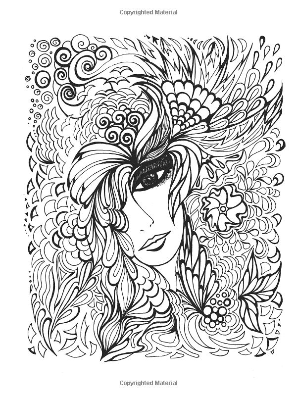 Fanciful Faces Coloring Book Creative Haven Miryam