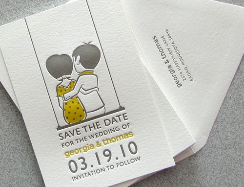 Illustrated Save the Date by Sweet Harvey: Design Inspiration, Married Dan, Illustrations Save, Design Ideas, Dates, Letterpresses Save The Date, Save The Date Illustrations, Posts, Nice Save