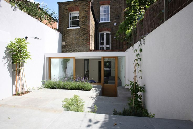 Contemporary Extension by Tamir Addadi - Terrace House front - Architecture Design Ideas