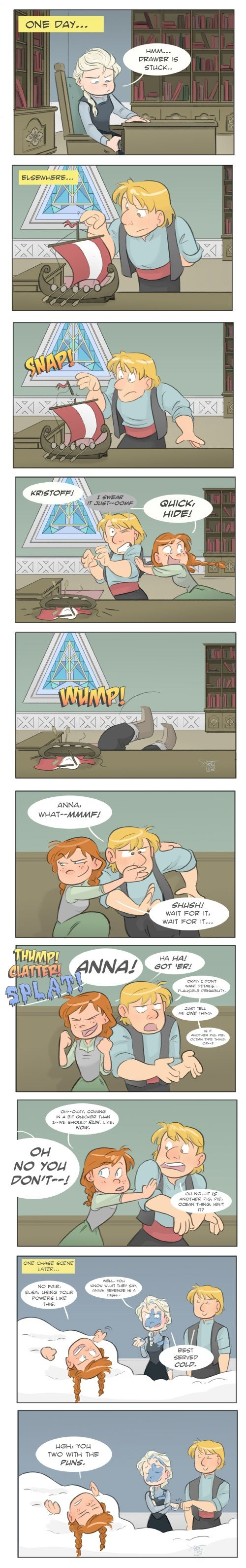 bwahaha, Elsa and Kristoff being buds is one of my favorite things :D I also 100% believe this would actually happen