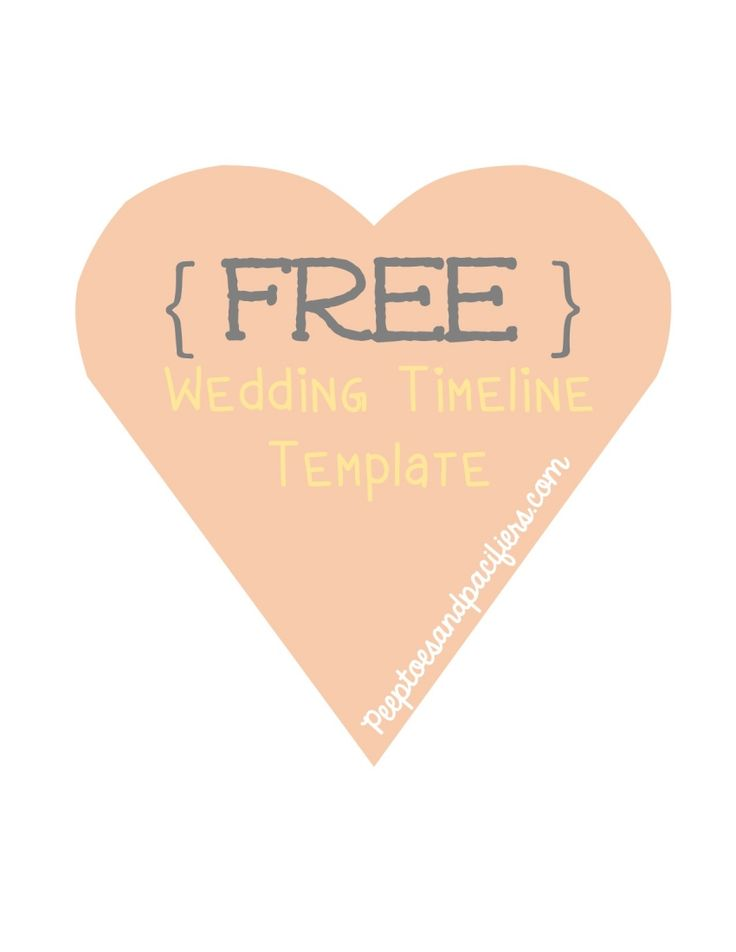FREE download of wedding timeline template!! Omg this is a great template!!