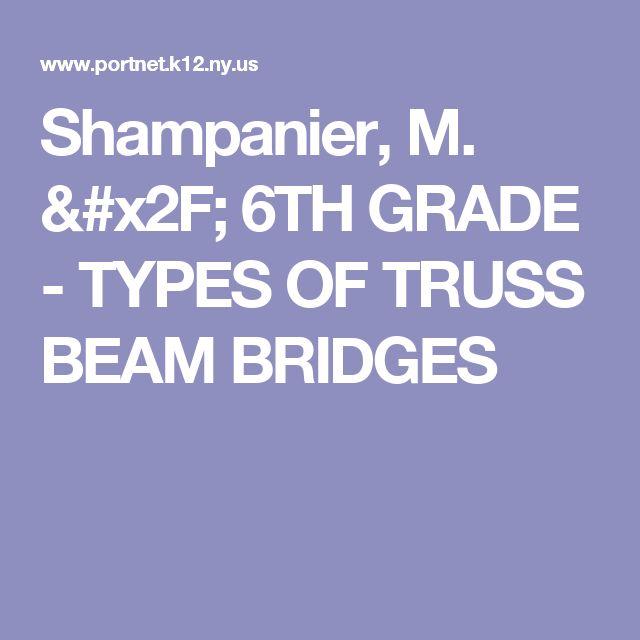 Shampanier, M. / 6TH GRADE - TYPES OF TRUSS BEAM BRIDGES
