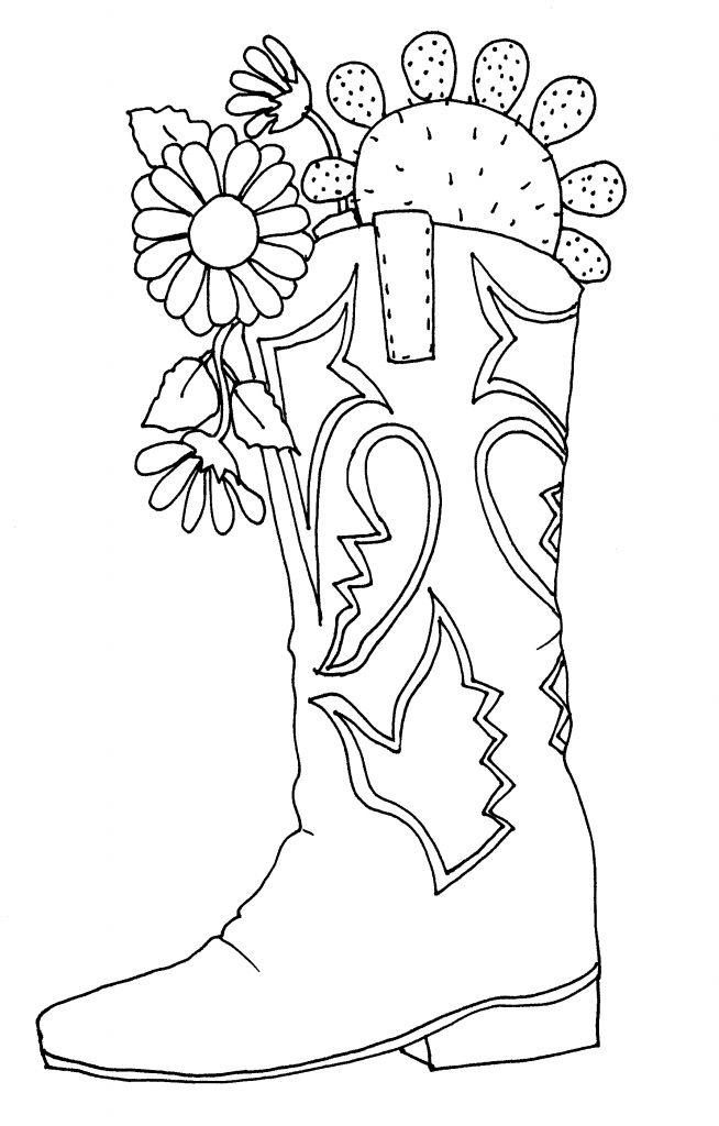 cowboy boots coloring pages free - photo#10