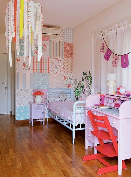 quarto de menina kinderzimmer. Black Bedroom Furniture Sets. Home Design Ideas