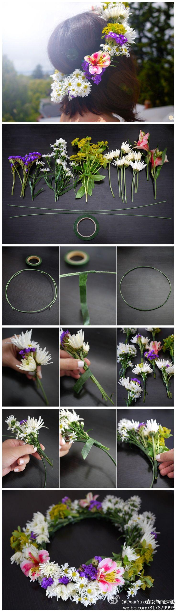 DIY flower crown - Perfect for a summer wedding!