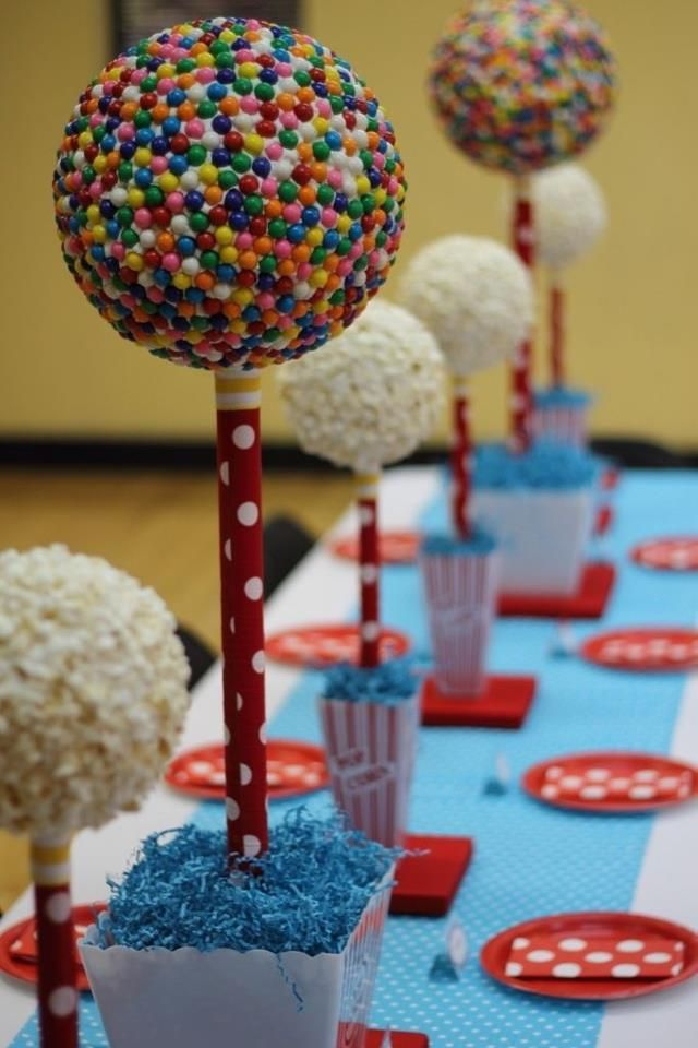 centro de mesa lindo para festa Circo: Circus Theme, Birthday Parties, Cute Ideas, Vintage Circus Parties, Parties Ideas, Circus Party0012, Carnivals Parties, Parties Theme, Parties Centerpieces
