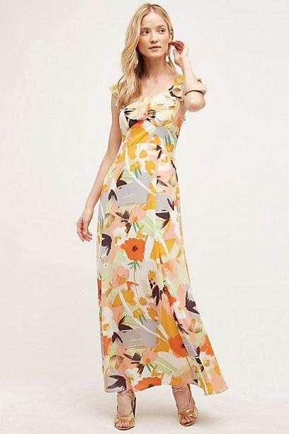 Gilded Garden Maxi Dress #anthropologie