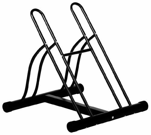 Ever Concept 2-Bike Floor Stand, Black Tubular Steel