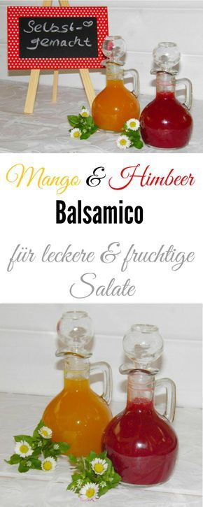Ach wie lecker sind diese beiden fruchtigen Obst-Balsamici….Himbeer & Mango-Balsamico sind für mich das Non-Plus Ultra um einen leckeren Salat aufzuwerten. Ich liebe ja Feldsalat mit gebratenen Zwiebeln & Schinkenwürfeln und frischer Mango. On top dazu entweder fruchtigen Himbeer- oder Mango-Balsamico. Im Thermomix ganz einfach herzustellen.