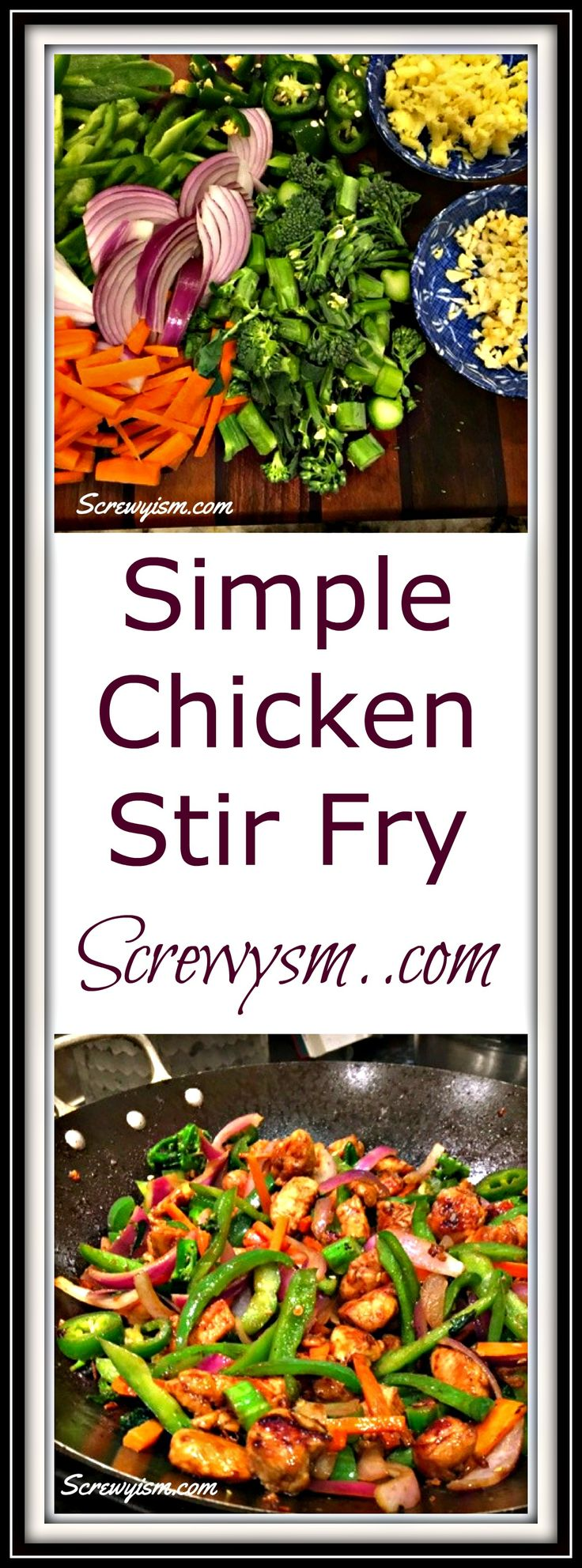 A simple chicken stir fry you can make at home with wholesome ingredients, simple, healthy and cheaper than takeout stir fry.