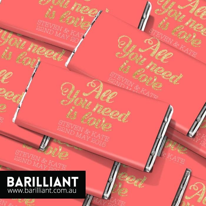 personalised chocolate bars by #barilliant