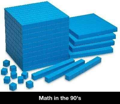 Some hardcore math: | 50 Pictures That Perfectly Sum Up Your Childhood. Yep, no calculator, just little blue blocks