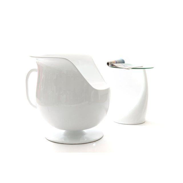 Fauteuil design blanc CUP MILIBOO