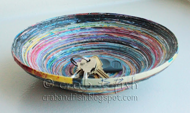 recycled paper bowl - instructions!