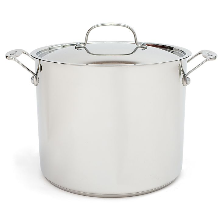 Cuisinart Chef's Classic 12-quart Stockpot | Model Number: 92105  Price: $69.99  Recommendation Status: Highly Recommended  Testers' Comments: Most home kitchens have room for a single stockpot, so it must handle a variety of big jobs, from steaming lobsters to boiling bushels of corn and cooking pounds of pasta; 12 quarts is the most useful size. Since we use our stockpot mainly for these simple operations, we prefer a good but inexpensive brand.
