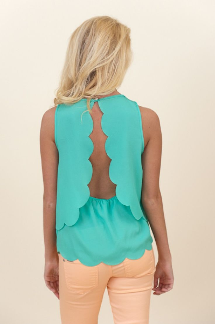 Nothing But Trouble Blouse-Seafoam. The whole site is adorable!
