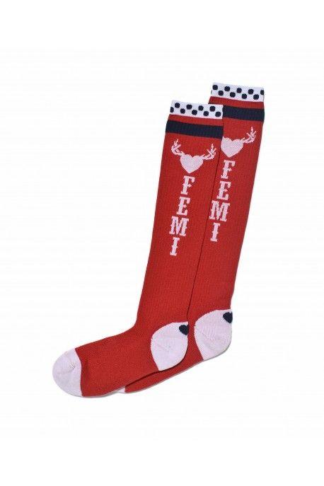 Femi Pleasure socks SPIR tomato melange