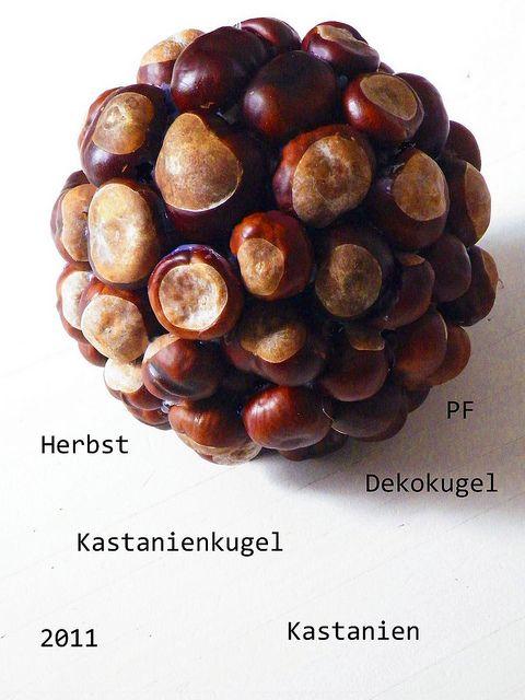 Herbst, Herbstdeko, Herbstkugel, Dekokugel, Kastanien, Kastanienkugel, 2011, Pfiffigste, www.pfiffigste.de
