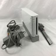 NINTENDO Wii Game Console System White Bundle Model RVL-001 Manual Tested WORKS