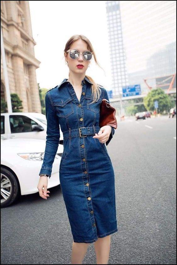 1da81784def Pin by FDT Head on Ladies Denims / Jeans Dress Idea in 2019 | Jeans dress,  Dresses, Denim midi dress