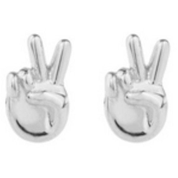 Rock N Rose Peace Sterling Silver Emoji Earrings ($34) ❤ liked on Polyvore featuring jewelry, earrings, accessories, jewels, metallic, monarch butterfly earrings, peace earrings, sterling silver butterfly earrings, peace sign jewelry and hippie jewelry