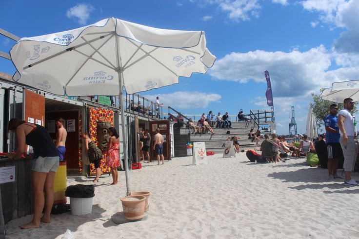 Strandbaren, The Beach Bar, in Aarhus. Is located at the new harbour area.