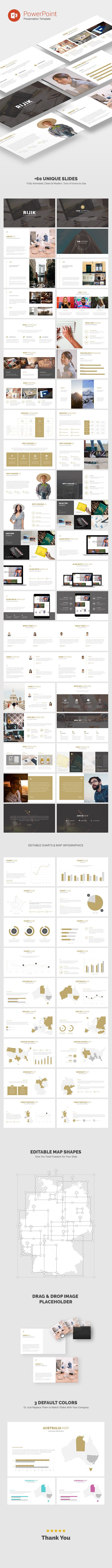 Rijik - Clean & Modern PowerPoint Template (PowerPoint Templates)