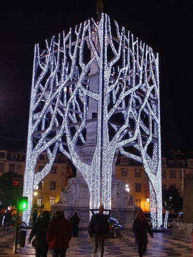 Christmas lights Lisbon, Portugal