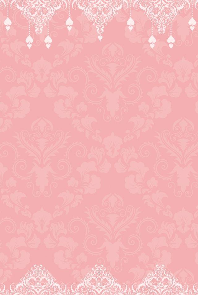Pink European Invitation Background Design In 2020