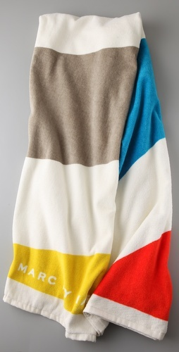 this big fluffy beach towel by marc jacobs.  it's so stripey and good.  48.00