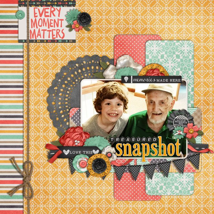 layout by linz C with my 93yr old grandpa Make the Days Count by Meg Mullens Mad…
