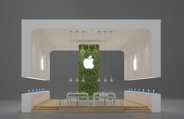 Simple Exhibition Stand Questions : Exhibition design apple by leticia velasco at coroflot