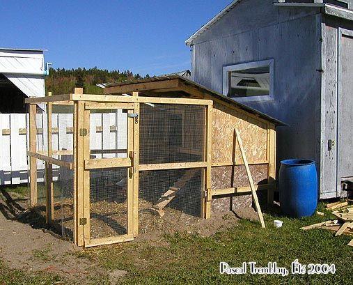 Poulailler construire - Construire un poualiller - Pouailler à vendre - Plan de poulailler