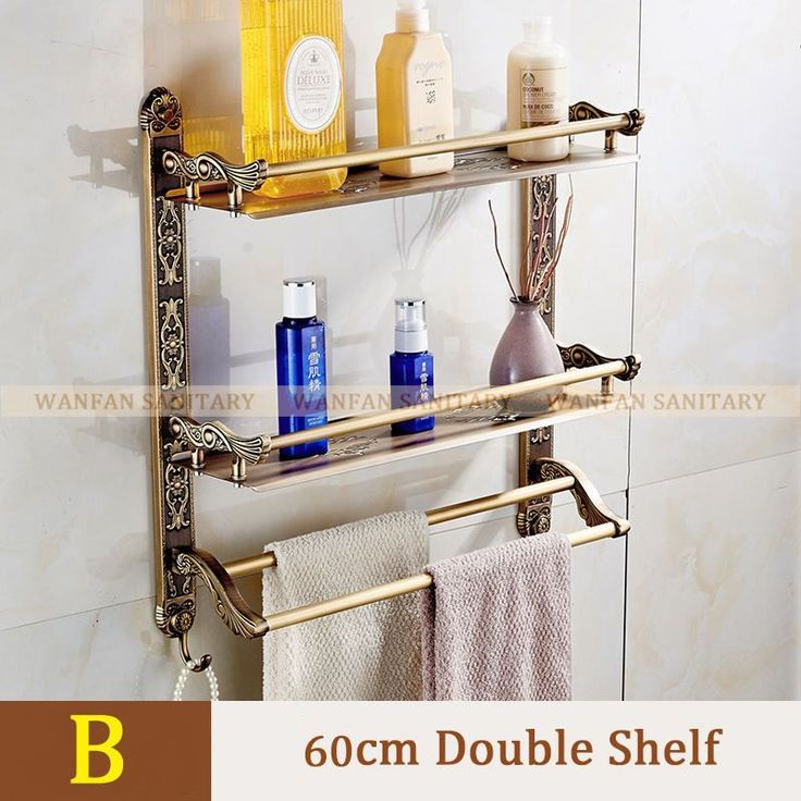 New Wall Mount layers Storage Basket shower room Bathroom Towel Rack Soap Dish S…   – Bathroom Shelves decor