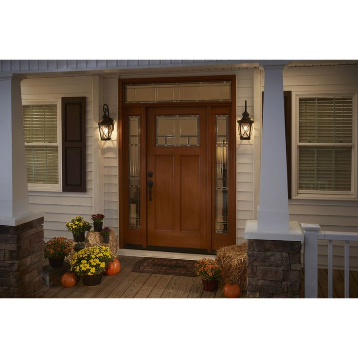 Shop allen roth castine 20 38 in h rubbed bronze outdoor wall light at lowes